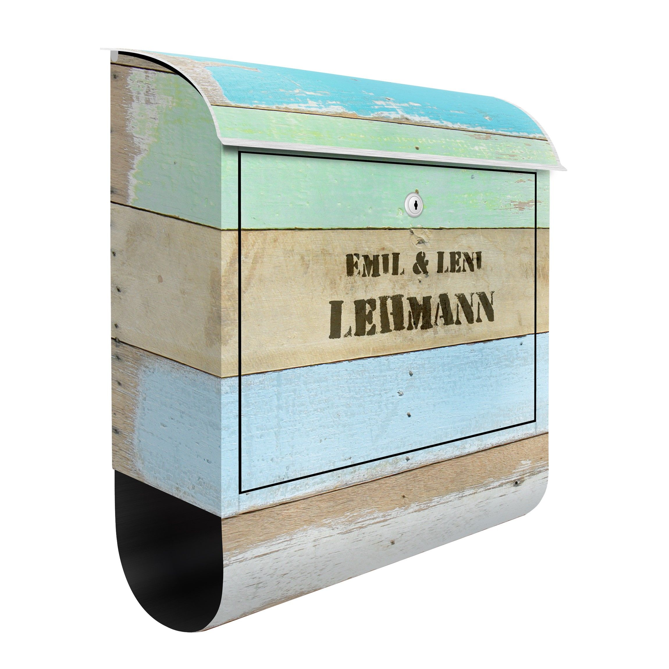Briefkasten Design Design Letter Box Your Own Words Rustic Timber 39x46x13cm 信箱