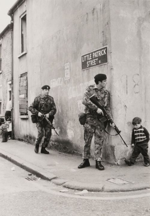 British Army Personnel in Northern Ireland During the Troubles.