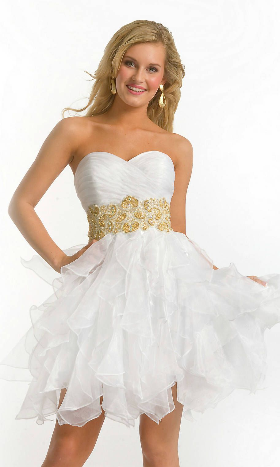 1000  images about White Prom Dresses on Pinterest  Embellished ...