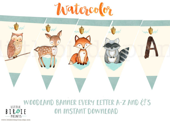 WOODLAND Baby shower invitation Deer Fox Baby Shower invitation OH - baby shower invitation letter