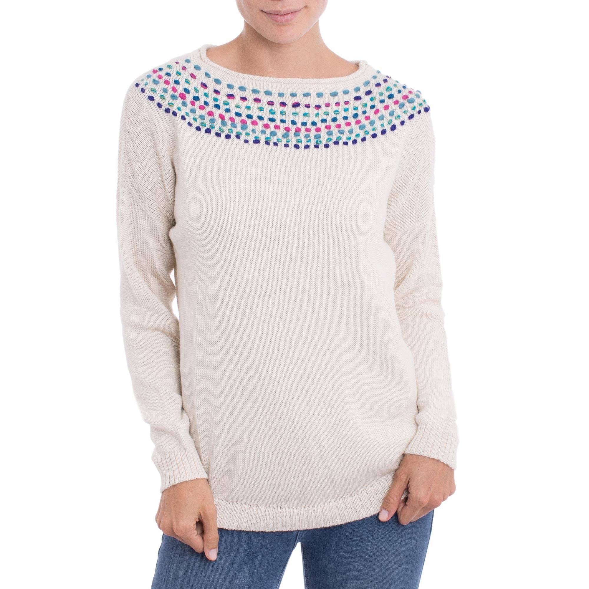 100 Baby Alpaca Sweater Alabaster Luxury Alpaca Sweater Baby Alpaca Sweaters