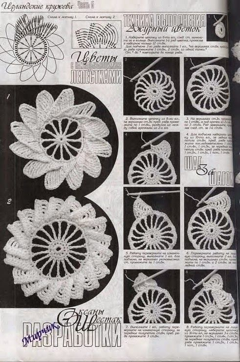Como se unen las piezas de crochet de encajé irlandés. ... | Crochet ...