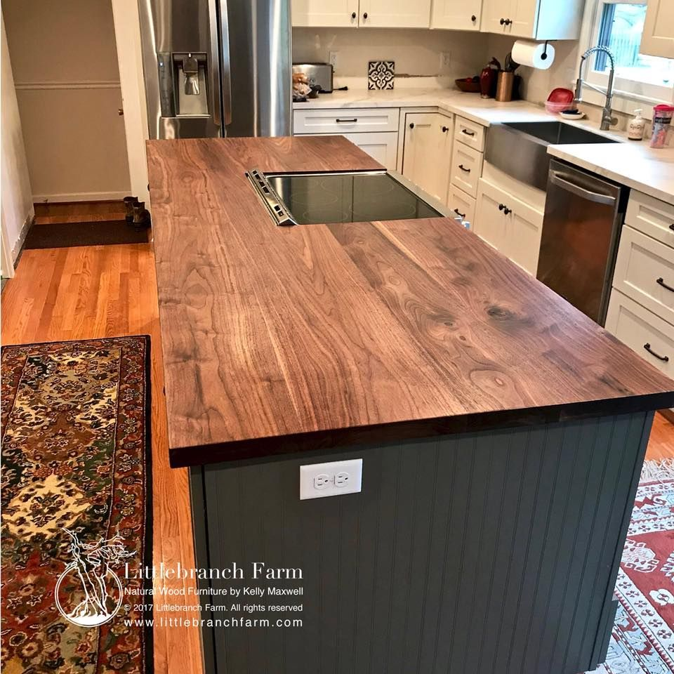 Natural Wood Countertops Live Edge Wood Slabs Rustic Kitchen