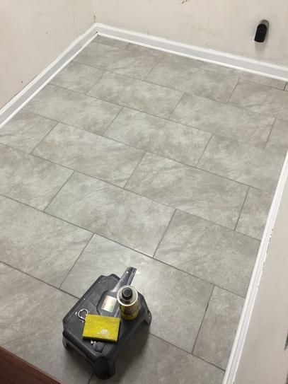 1 28 Sqft Trafficmaster Portland Stone Gray 12 In X 24 Glazed Ceramic Floor And Wall Tile 15 01 Sq Ft Case Ulp8 At The Home Depot Mobile