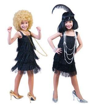 Enfants Filles frange d/'aileron Costume Robe Fantaisie 1920 S 20 S tenue
