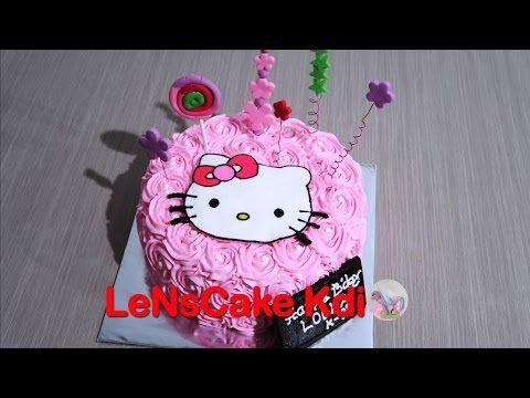 Kekinian Cara Membuat Kue Ulang Tahun Hello Kitty Youtube Kue Ulang Tahun Ulang Tahun Kue
