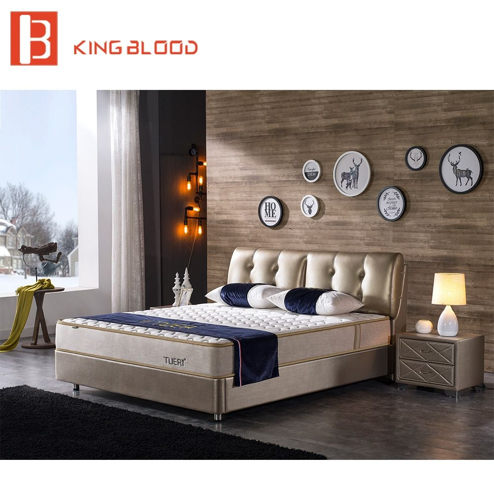 Us 5740 Indian Modern Genuine Leather Solid Wood Double