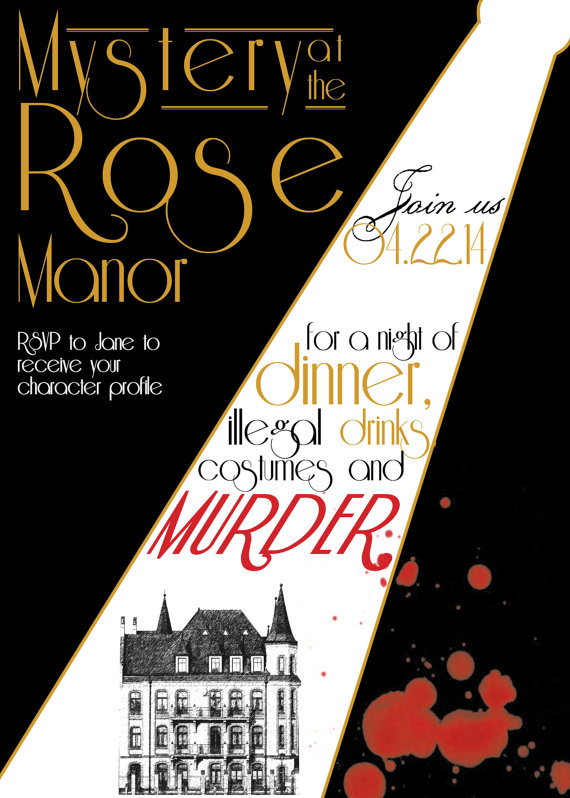 1920s Murder Mystery Dinner Party Invitation
