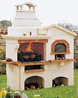 Barbecue pierre GARGANO avec four à pizza planlar Pinterest