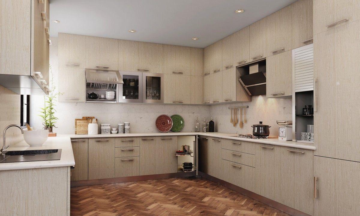 auden-u-shape-kitchen | 10 modular kitchen designs by interiahomes