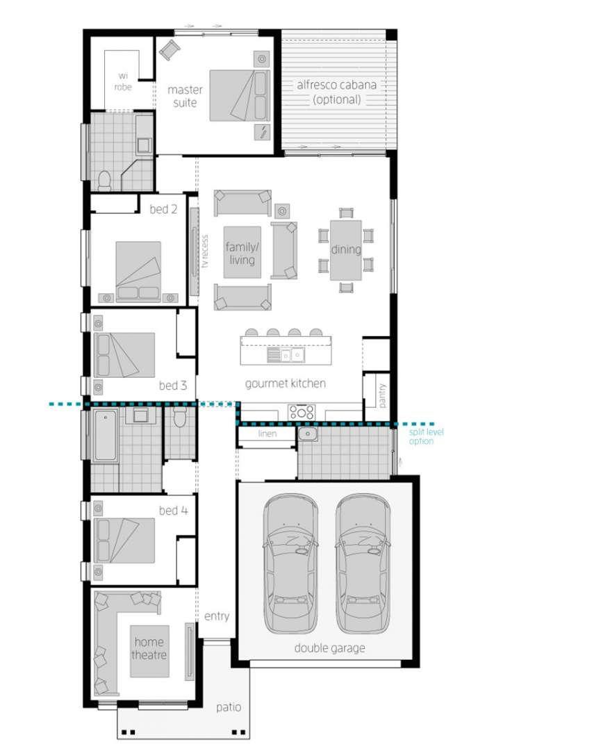 Montoro Narrow Block Home Mcdonald Jones Homes House Layout Plans Mcdonald Jones Homes House Layouts