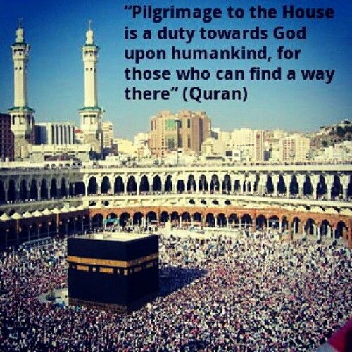 A quote from the Qur'an requiring the pilgrimage  | Hajj