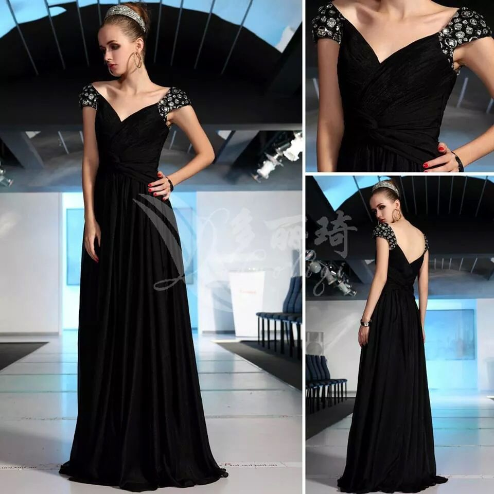 Elegant black dress gowns pinterest gowns and black