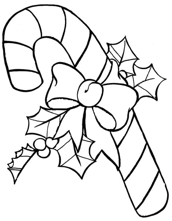 Candy Cane For Santa Coloring Page | Candy cane coloring ...