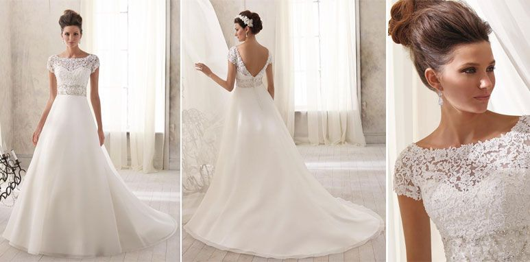Wedding Gown Trend #5: Color. Alfred Angelo Sapphire, style #890 ...