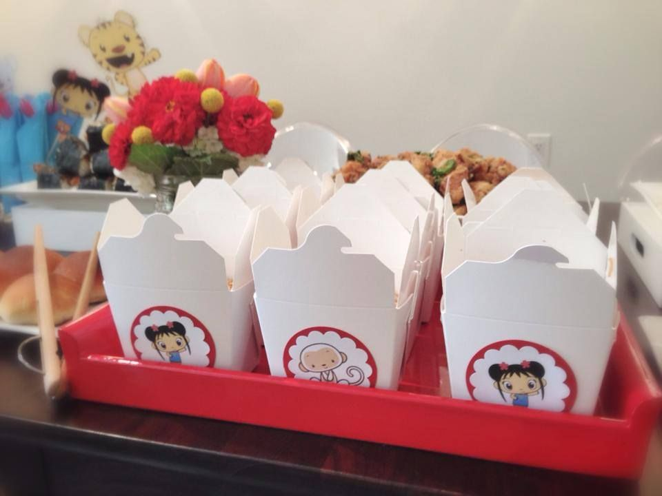 Cute take-out boxes for the delicious food!
