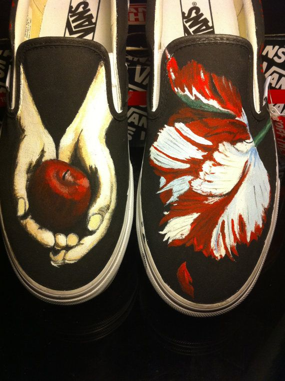 Twilight Custom Painted Shoes by
