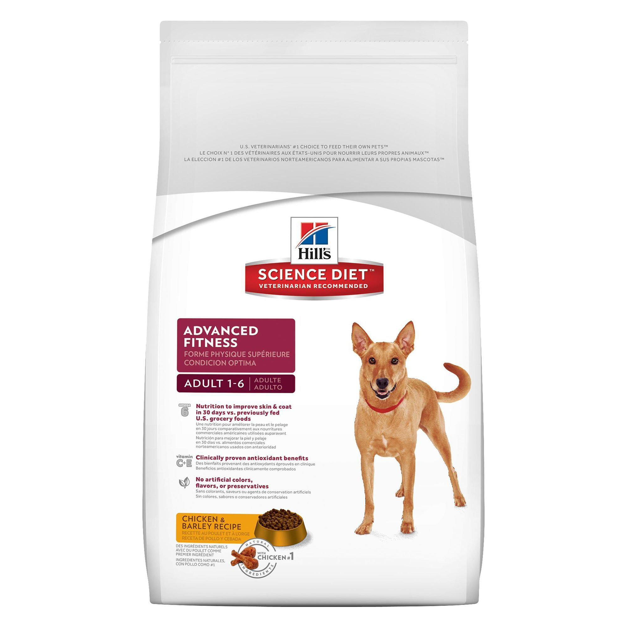 Hill S Science Diet Advanced Fitness Adult Dog Food Chicken And