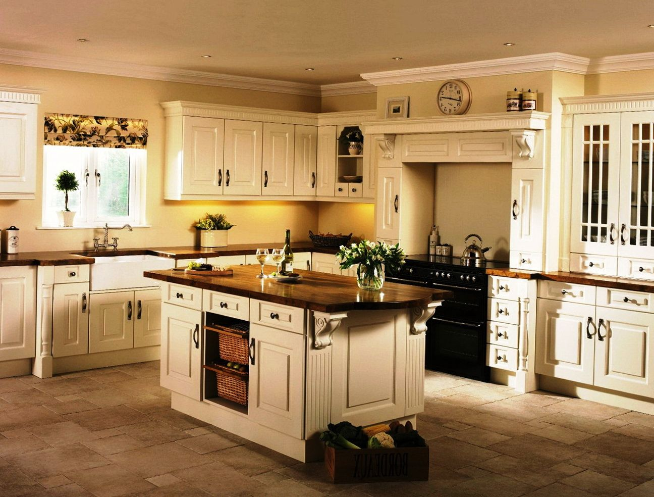 Best Cream Kitchen Cabinets What Colour Walls Kitchen Rehab 400 x 300