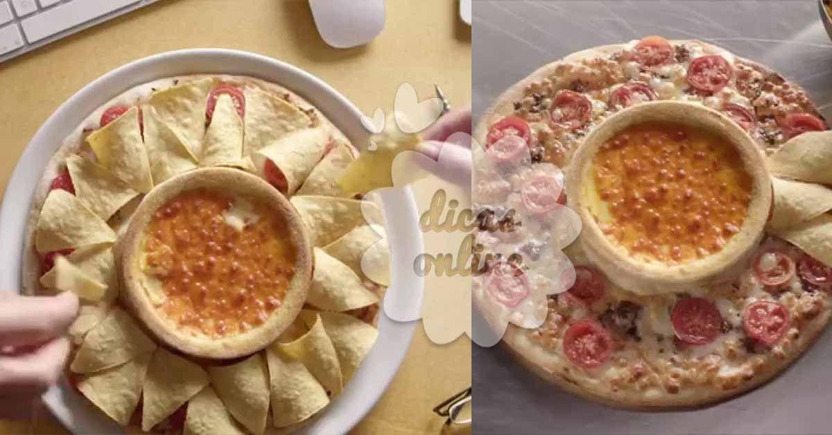 Incrível! Pizza-vulcão: a pizza bem criativa, que está causando euforia na internet! - # #pizzacaseira