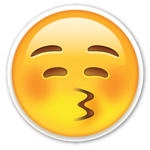 Kissing Face With Closed Eyes Emojistickers Com Emoji Stickers Emoji Kiss Emoji
