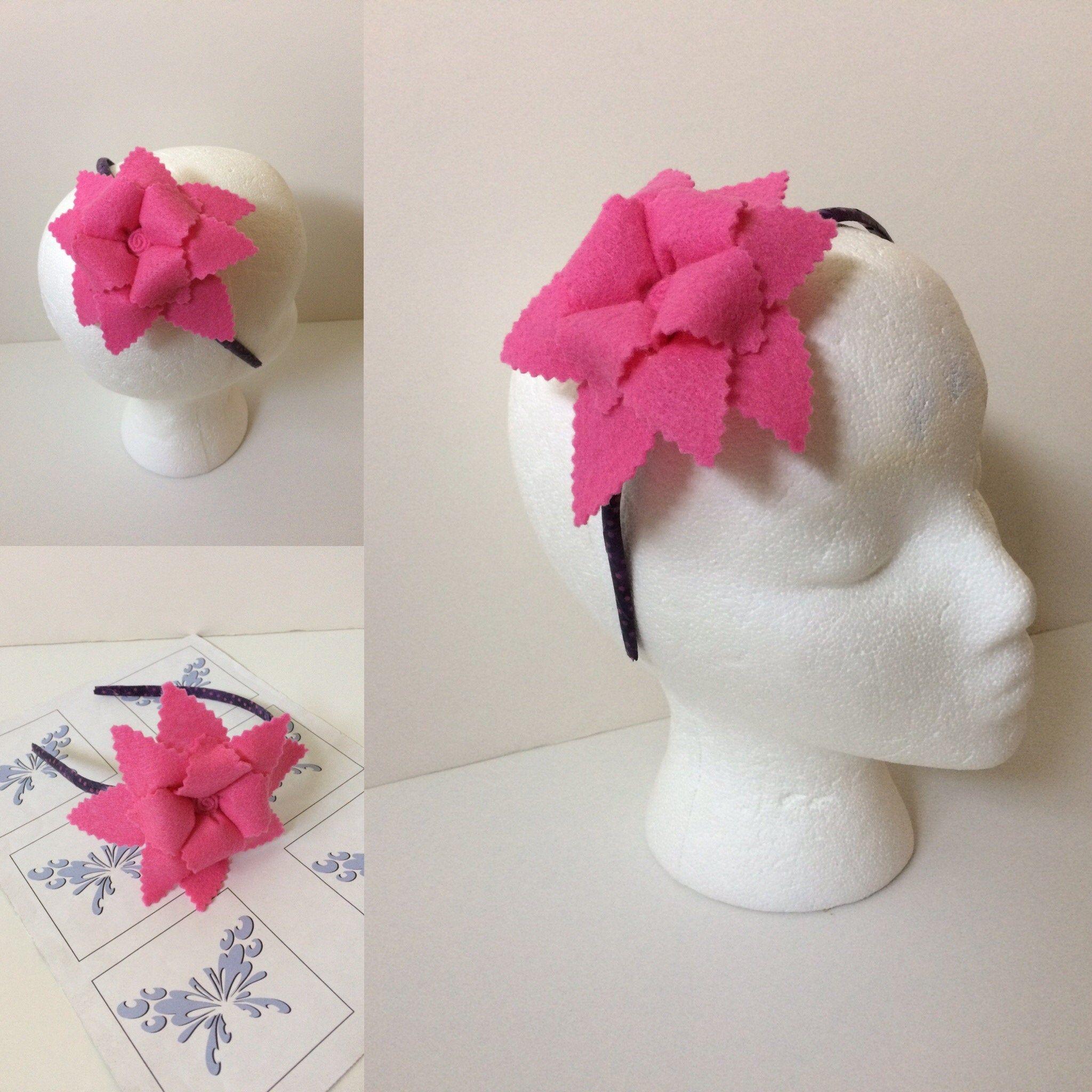 Flower Headband Pink, Felt Flower Headbands #feltflowerheadbands