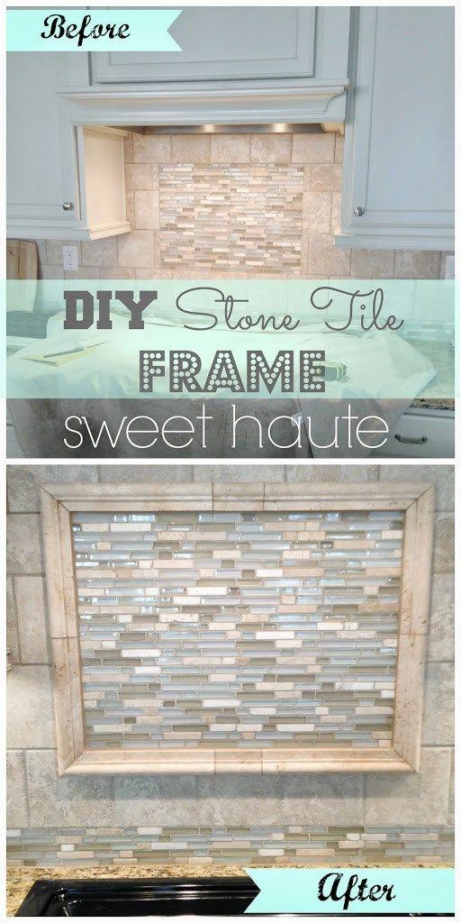 Diy Framed Tile Backsplash Diy Frame Tile Backsplash Idea