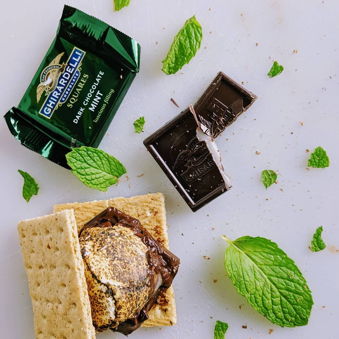 Mint S'mores made with @ghirardelli chocolate. @thefeedfeed, #aBiteBetter  #feedfeed  #contest --- ---