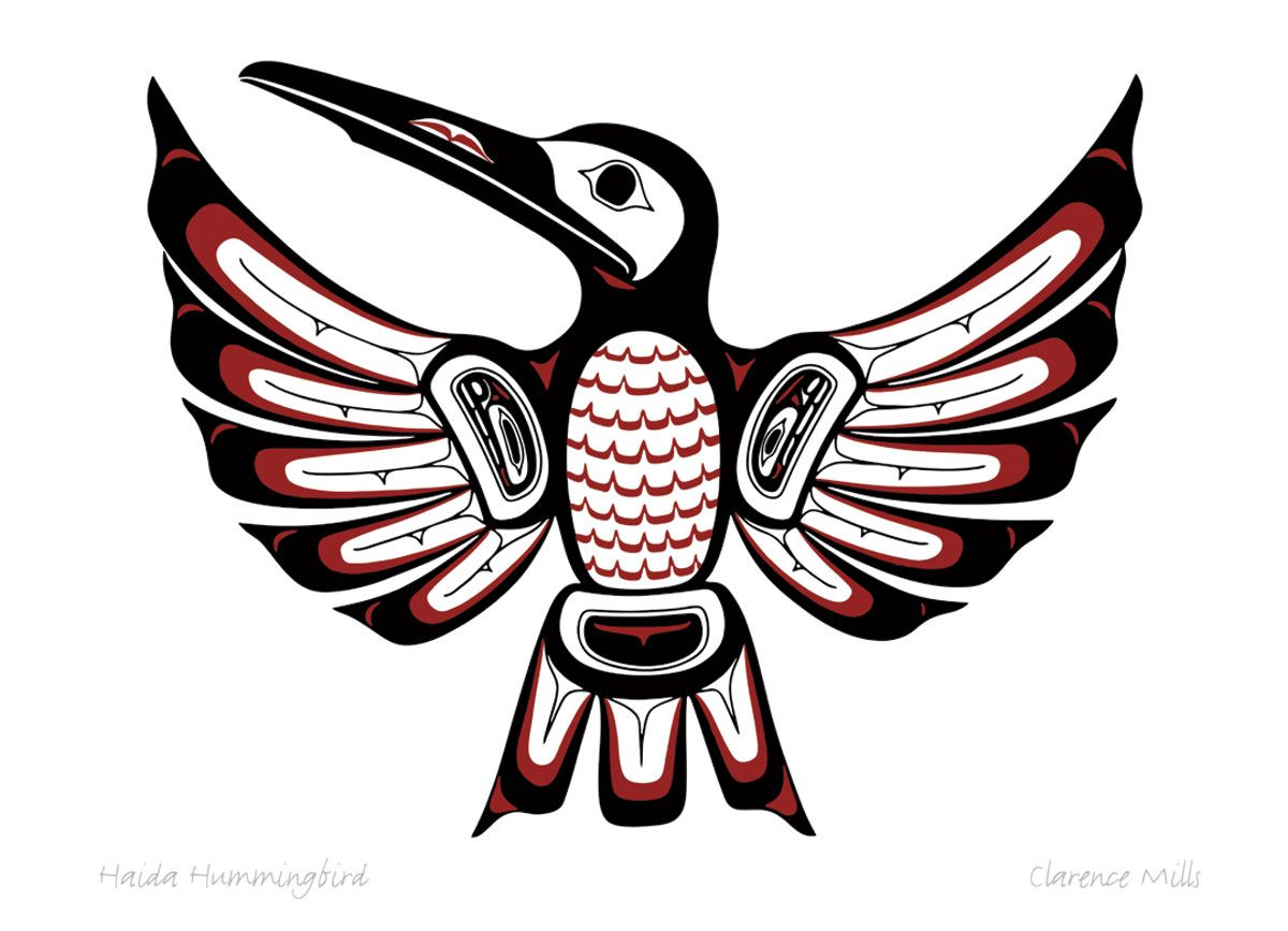 Mills clarence keyword artist canadian art prints winn haida hummingbird by clarence mills draw biocorpaavc Gallery