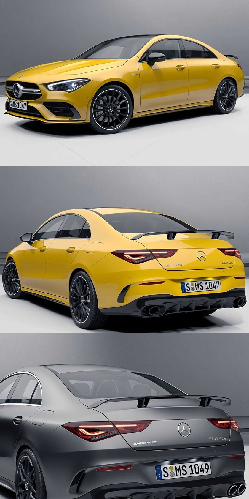 Mercedes Amg Cla35 And Cla45 Get New Upgrades Aero Packs Are The Amg Way Even On The Small Sedan In 2020 Mercedes Mercedes Amg Amg