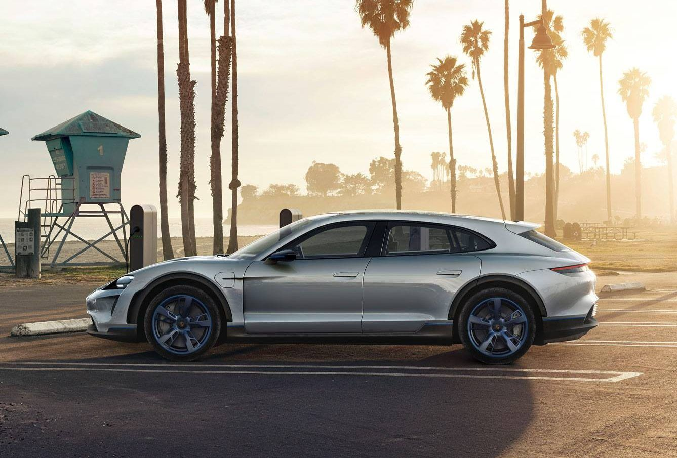 The Porsche Taycan Cross Turismo launched at the end of