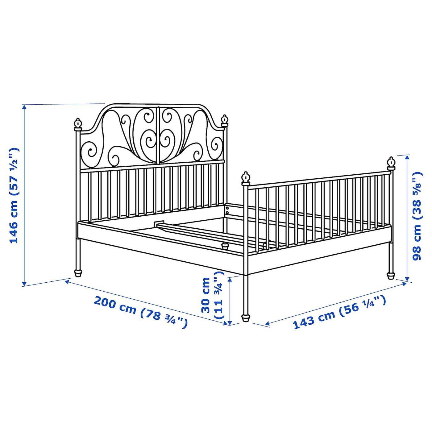 Leirvik Bed Frame White Full Ikea Leirvik Bed Bed Frame Metal Bed Frame
