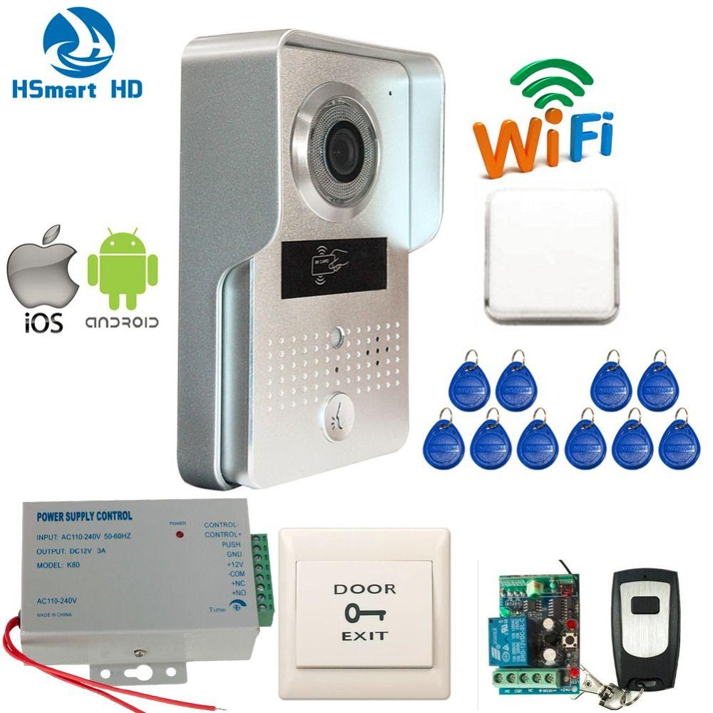 New 3g Wifi Ip Doorbell Ir Camera Video Intercom Rfid Access Wireless Door Bell For Android Ios Smartphone Remote View Unlock Intercom Smartphone Wireless