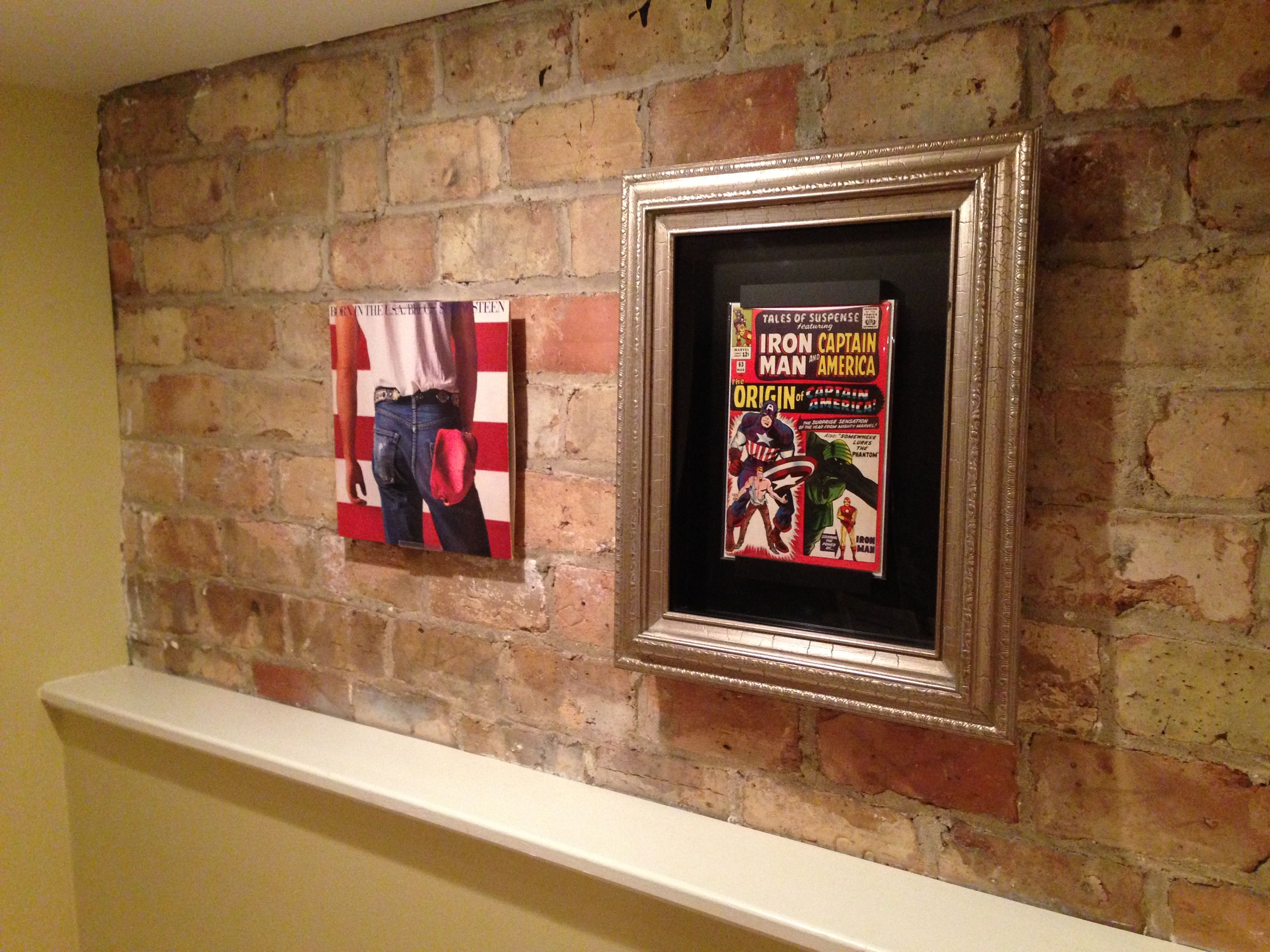 new two in one record album display both a wall mount or she man cave comic book display. Black Bedroom Furniture Sets. Home Design Ideas