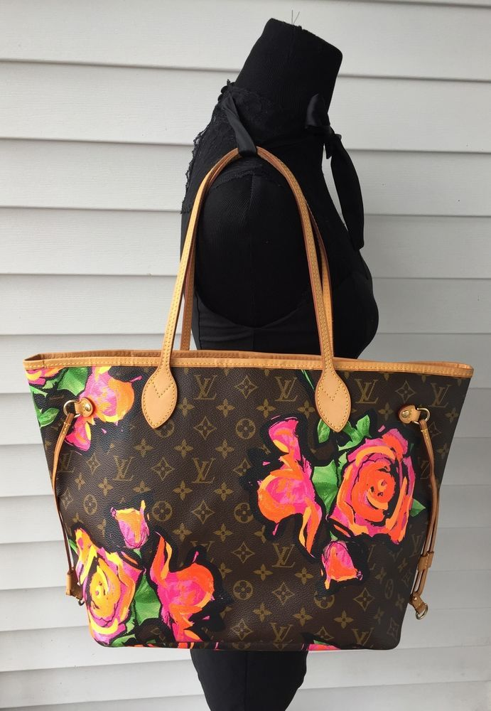 f03ada1ed676 LOUIS VUITTON Stephen Sprouse Roses Neverfull MM Limited Edition Tote Ba g   LouisVuitton  ToteBag