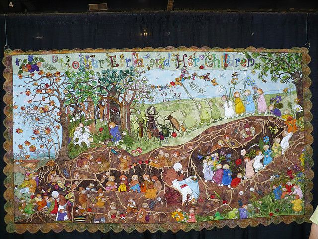 Mother Earth and Her Children' quilt based on the illustrations of ... : children quilt - Adamdwight.com