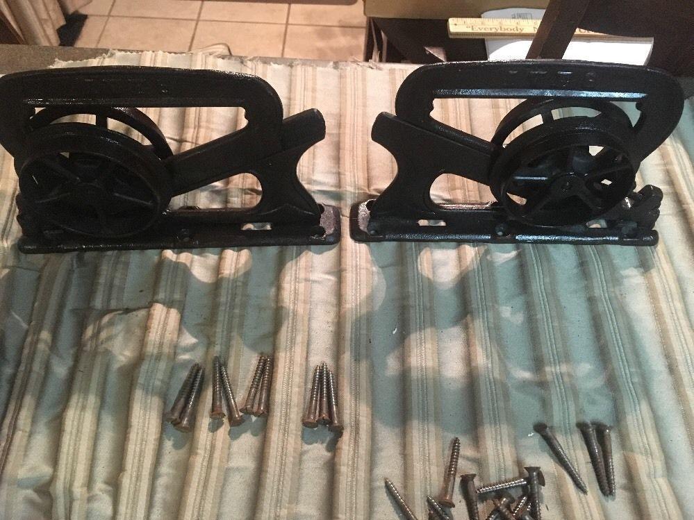 Set Of Antique Ives Pocket Parlor Door Rollers C 1886