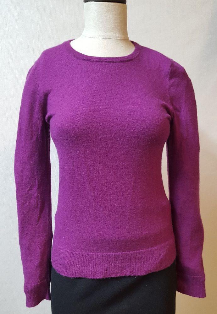 4e359867ac2 3 Dot Size Medium Purple Sweater 100% Cashmere Crew Neck Long Lightweight   3Dots  Crewneck  Work