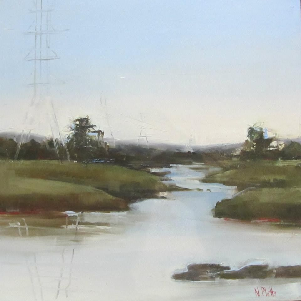 Midlands landscape  50x50cm Oil on cotton/linen blend Nicoleplettsfineart.com #nicolepletts