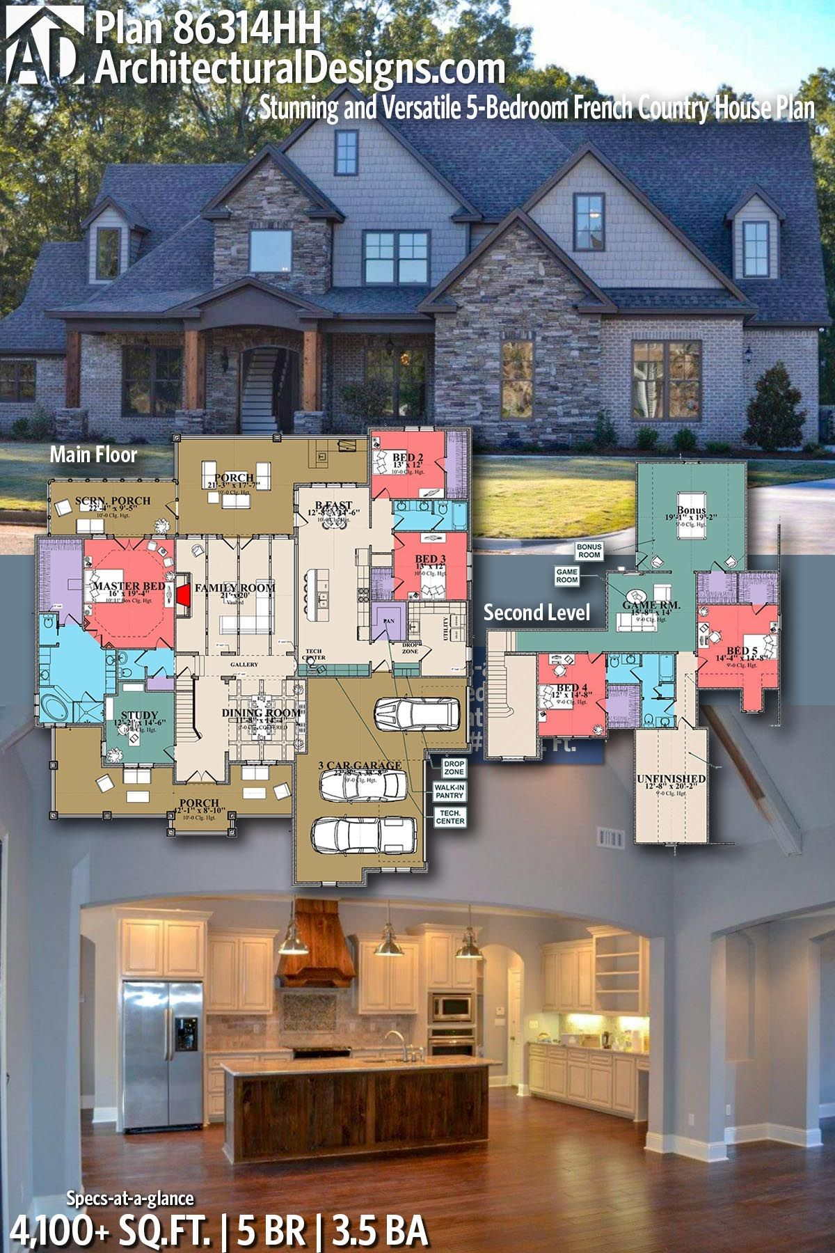 Architectural Designs Craftsman Home Plan 86314HH gives