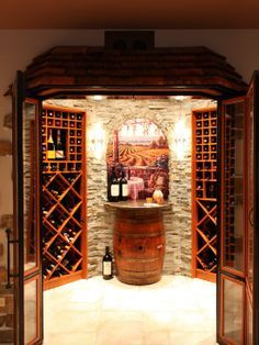 turn a small room into a wine room - Google Search