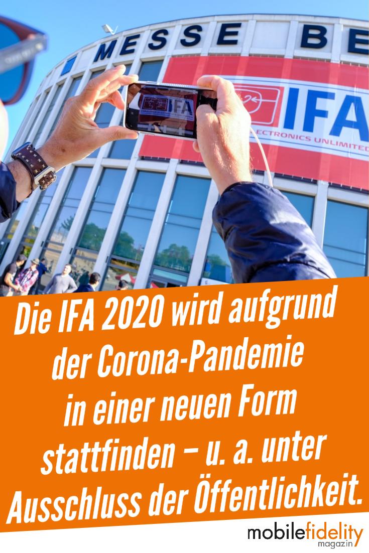 Die IFA 2020 in Berlin wird aufgrund der andauernden Coronavirus-Pandemie als Special Edition in einer ganz neuen Form stattfinden – unter anderem unter Ausschluss der Öffentlichkeit. #IFA2020 #Berlin #Messe #Audio #Hifi #News #IFA #Corona #Event #Veranstaltung #Coronavirus #Pandemie #SpecialEdition #MesseBerlin #IFABerlin