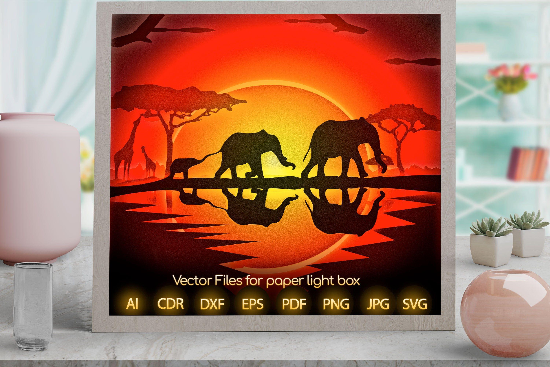 DIY Papercut Template Safari Party Commercial Licence