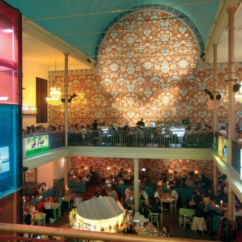 Restaurant Bazar - oosters eten in een kleurrijke oude kerk in de Albert Cuypstraat http://bazaramsterdam.nl/