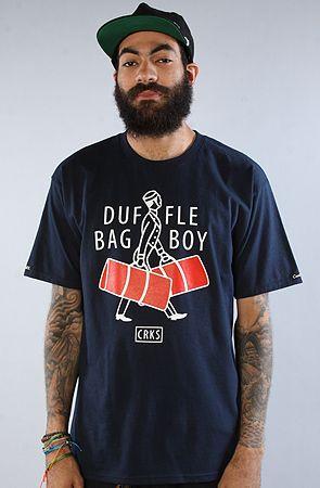 The Duffle Bag Boy Tee In Navy By Crooks And Castles Karmaloop