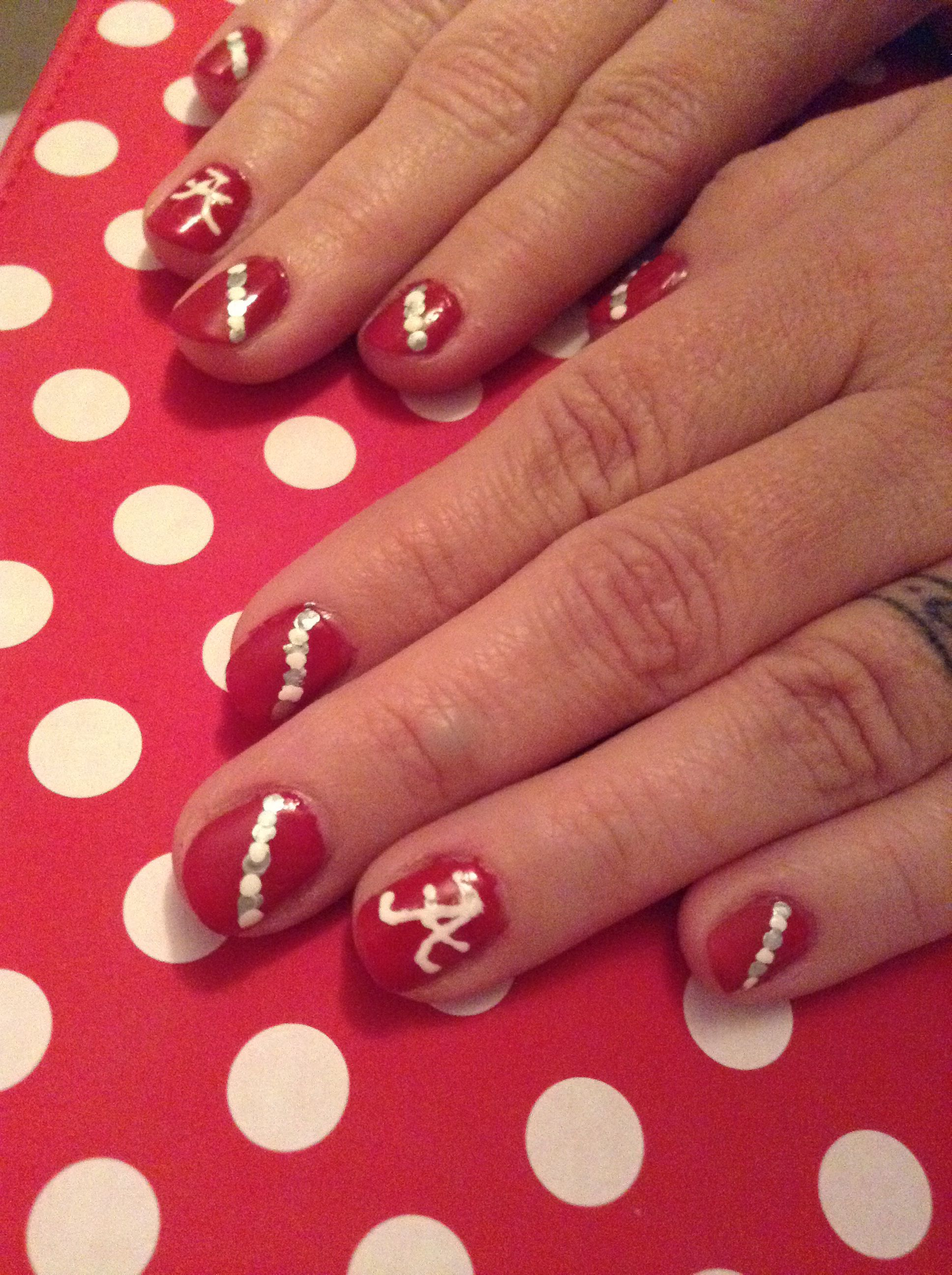 Alabama nails these were done by my beautiful daughter