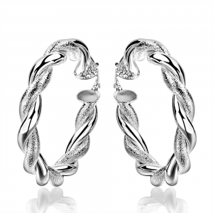 Sterling Silver Ancient Ingrain Hoop Earring. * Genuine Sterling Silver  * Weight (grams):19.80 * Dimensions: 0.7X5CM   * Made to last a lifetime * Lead and Nickle Free