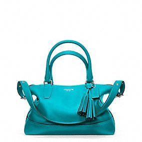 LEGACY LEATHER MOLLY SATCHEL  This bag is utterly beautiful, but I love teal.