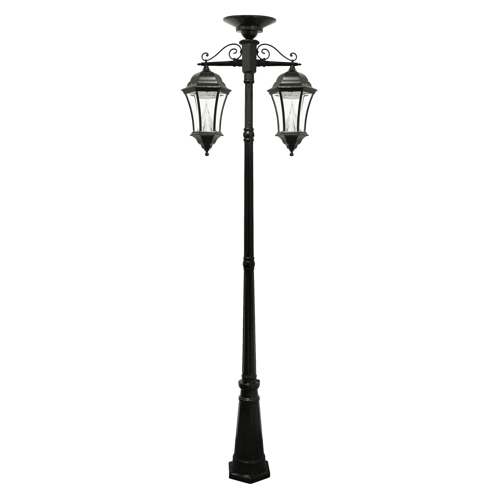 Gama Sonic Victorian Solar Lamp Post and Down-Hanging Lanterns ... for victorian hanging lamp post  49jwn