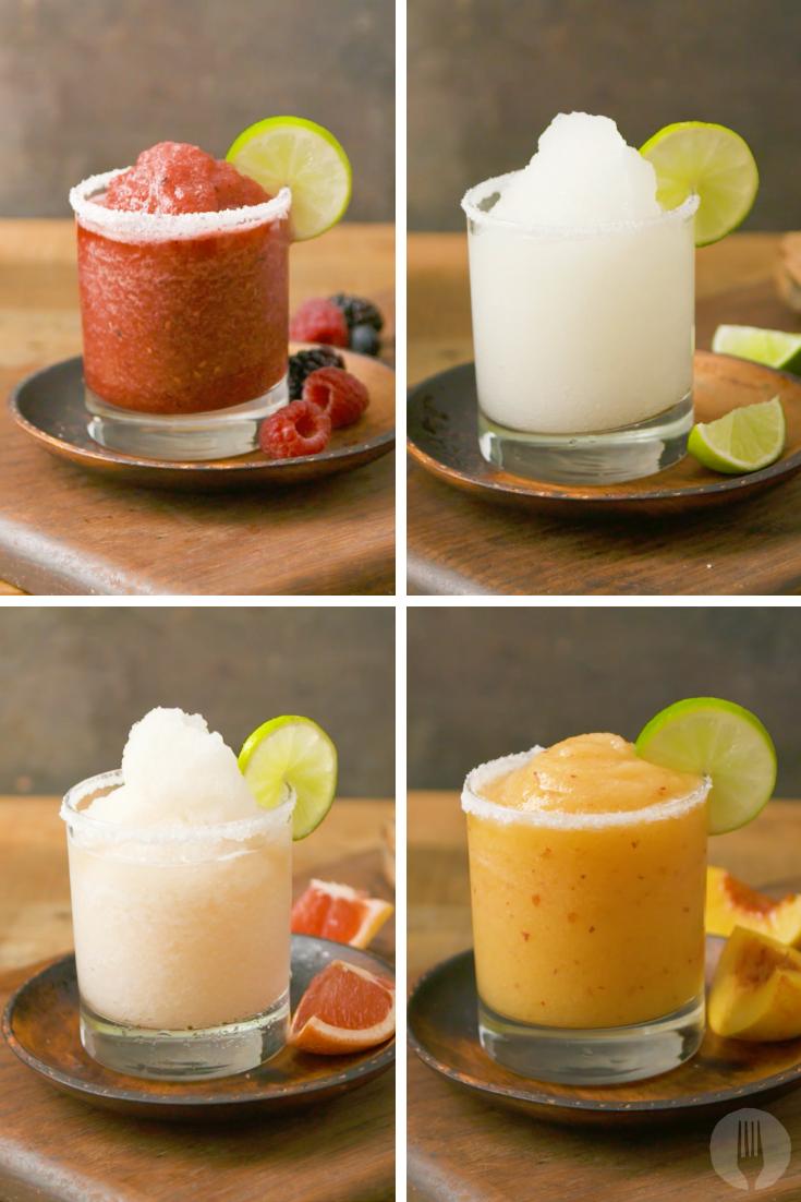 Frozen Margaritas 4-Ways #frozenmargaritarecipes